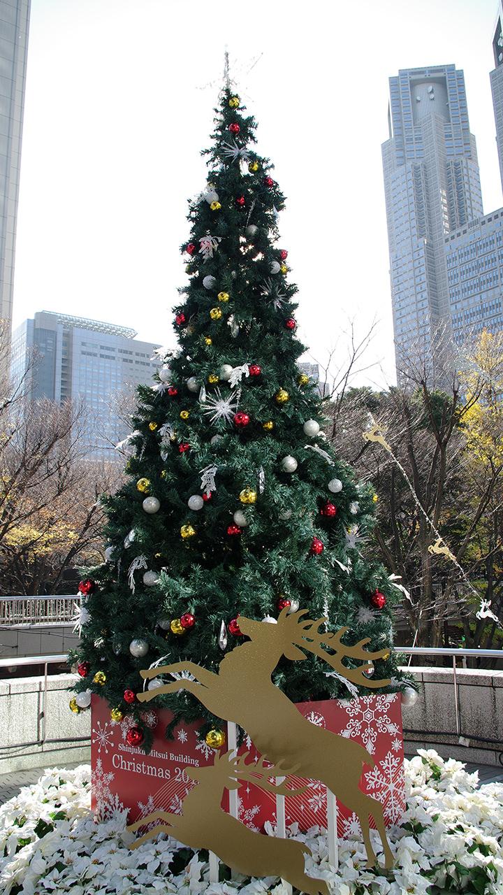 クリスマスツリーのiphoneスマホ無料壁紙 待ち受け 1330 フォトック