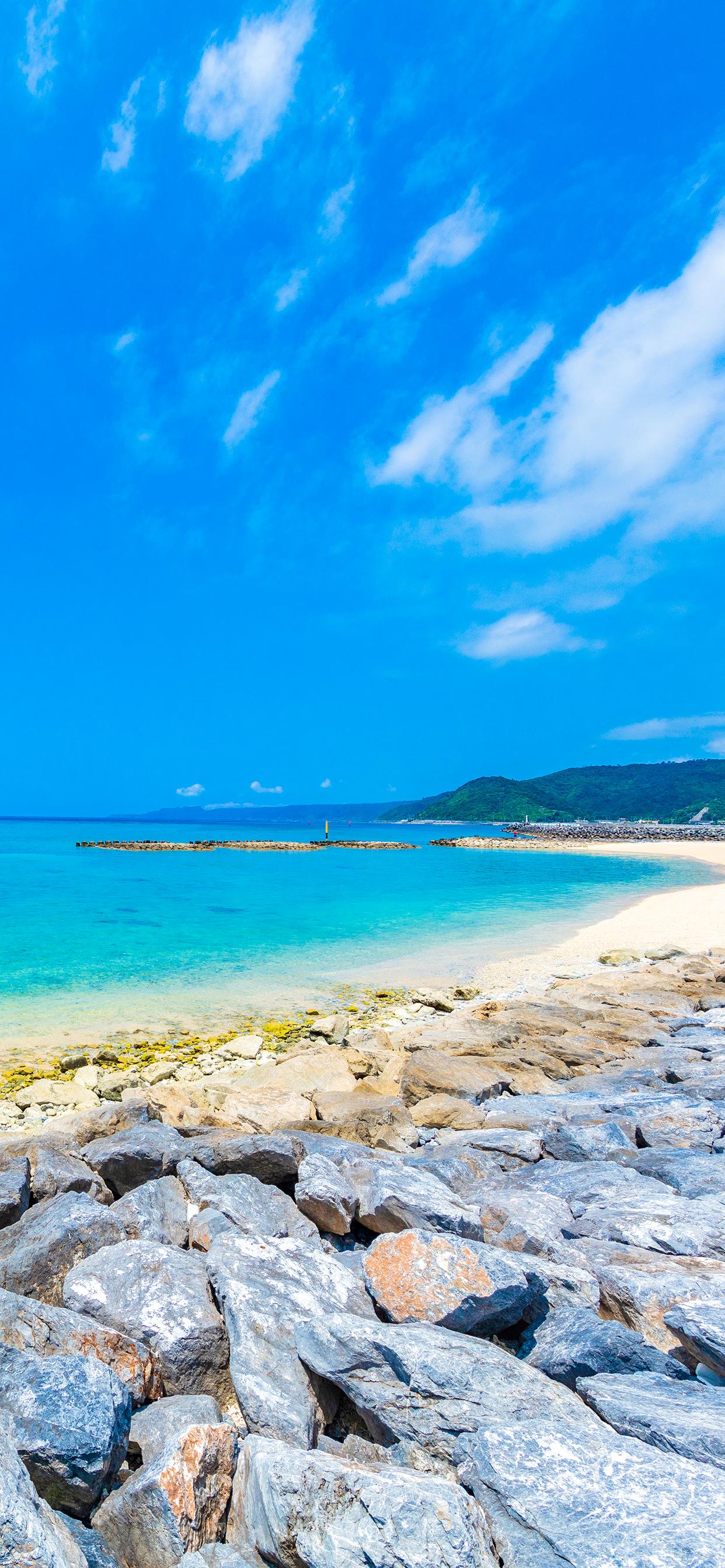 沖縄の海のiphoneスマホ無料壁紙 待ち受け 6291 フォトック